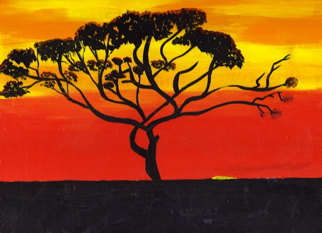 The gallery for --> African Sunset Acrylic Paintings