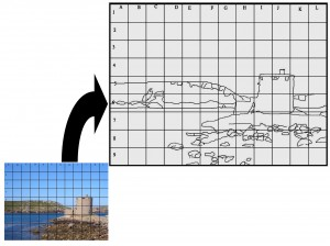 Resize image by choosing a larger grid