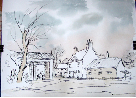The Old Farm By Alan Owen Westhoughton Art Group