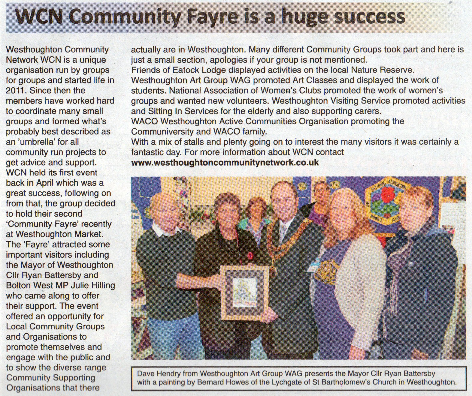 Community Fayre 24th November 2012 painting presentation