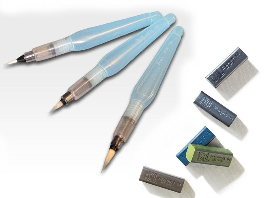 XLgraphite and aqua pens